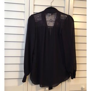 Dorothy Perkins Bow and Lace retail blouse